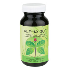 Alpha 20C? 100 Capsules  (525 mg each capsule)