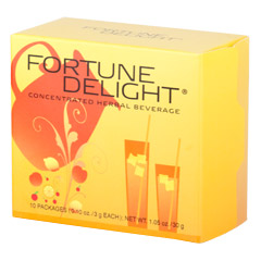 Fortune Delight® Peach 10/3 g Packs  (0.10 oz./3 g each bag)