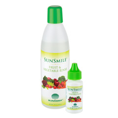 SunSmile® Fruit & Vegetable Rinse - Trial Size - Net Wt. 1 fl. oz./30 mL